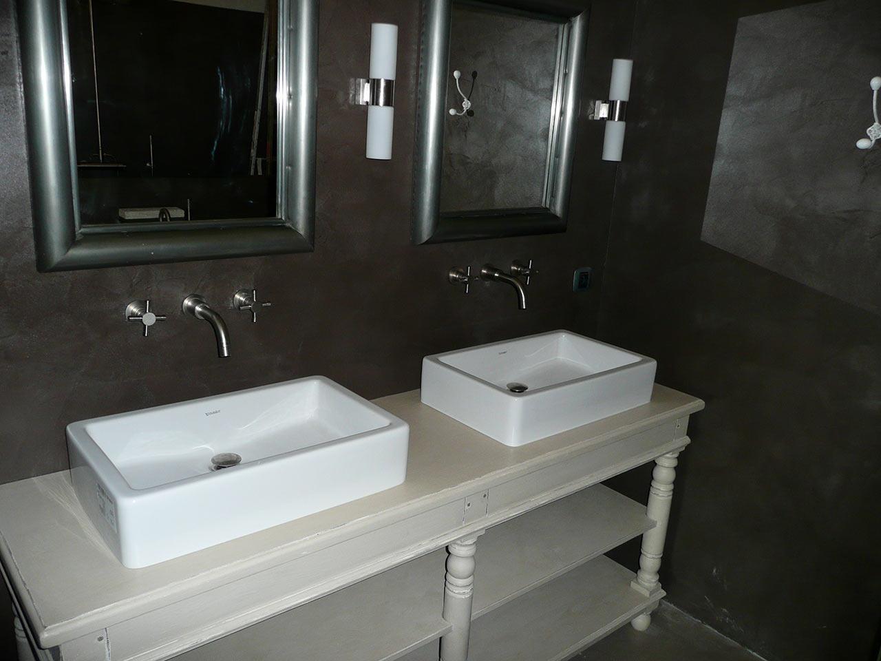 Meubles de salle de bain b ton cir atlantic bain for Beton mineral salle de bain
