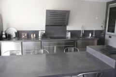 Table de cuisine et plan de travail maçonnés