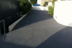 Sol de parking en béton ciré