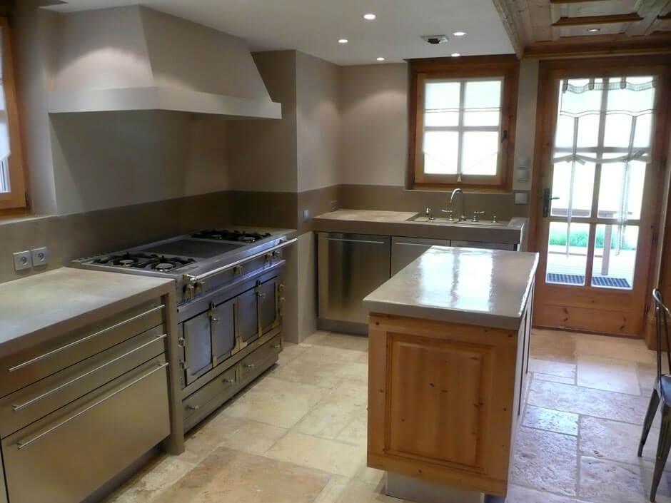 cuisine beton cire bois top salle de bain en bton cir pour un amnagement tendance with cuisine. Black Bedroom Furniture Sets. Home Design Ideas
