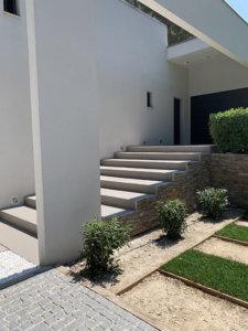 escalier en résine d'extérieur