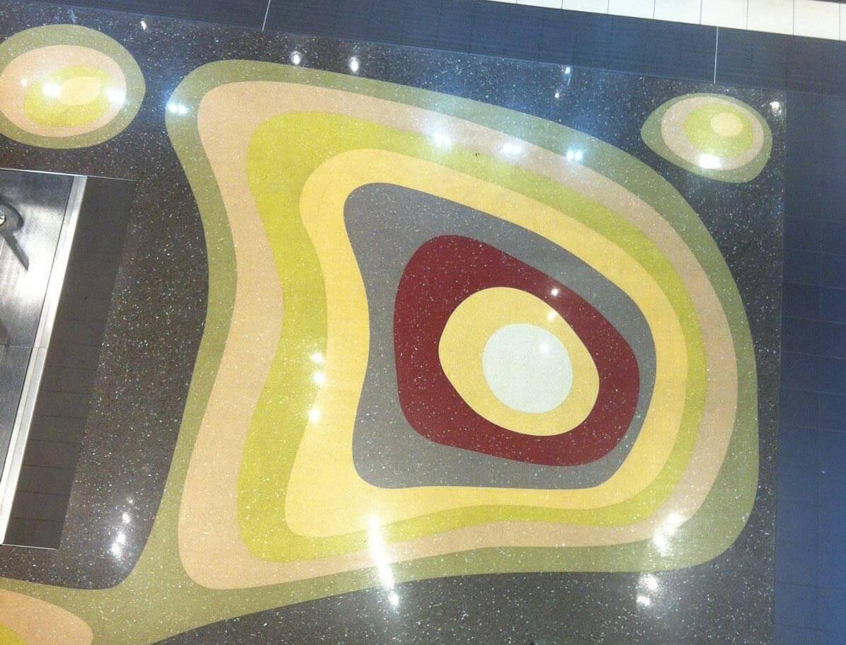 Béton terrazzo granito